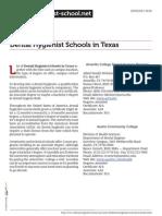 Dental Hygienist Schools in Texas