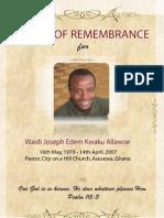 Waidi - Book of Remembrance..
