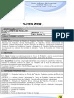 Plano Direito Do Trabalho i 2011.1