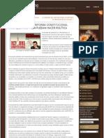 CONGRESO TRAMITA REFORMA CONSTITUCIONAL PARA QUE FARC Y ELN PUEDAN HACER POLÍTICA