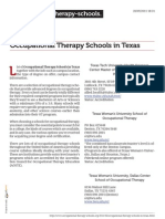 Occupational Therapy Schools in Texas