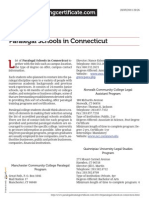 Paralegal Schools in Connecticut