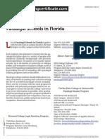 Paralegal Schools in Florida