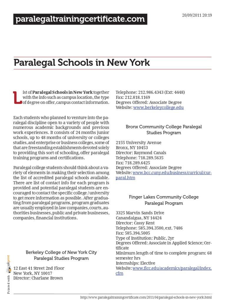 Paralegal Schools In New York Paralegal Associate Degree