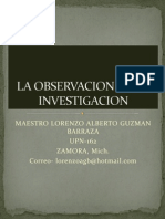 La Observacion en La Investigacion