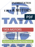 ERP at Tata Motors 2003