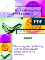 The Favourite Dining Place of F(1)
