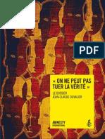 « On ne peut pas tuer la vérité » Le Dossier Jean-Claude Duvalier