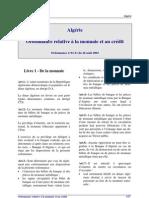 Ordonnance Monnaie Credit n 03-11