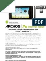 Archos70 Tablet