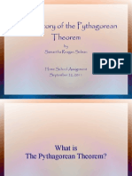 The History of the Pythagorean Theorem