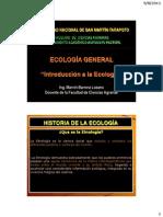 Tema 1 - Introducción a la ecología
