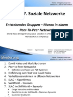 Computersimulation - Soziale Netzwerke