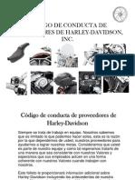 Código de conducta de proveedores de Harley-Davidson