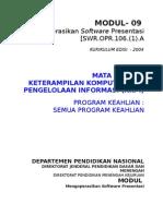 Modul 09 KKPI - Mengoperasaikan Softtware Presentasi
