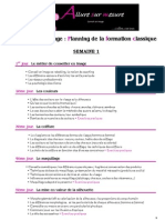 Planning Formation Classique