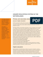 Factsheet the Education System in the Netherlands July 2009