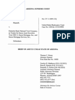 Amicus Brief - Arizona Supreme Court - Vasquez Vs. Deutche Bank, Saxon