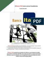 CUIDADO - Banco ITAÚ envía correos fraudulentos