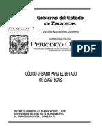Codigo Urbano Estado Zacatecas