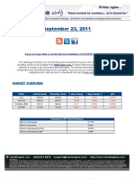 ValuEngine Weekly Newsletter September 23, 2011