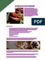 Cómo hacer las flores de cuero moldeado