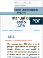 Bibliografía APA 6a ed.