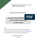 Une approche multidimensionnelle de la pauvreté appliquée à la Côte d'Ivoire - Kalilou Sylla