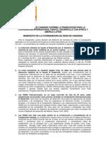 Manifiesto CONGDCA