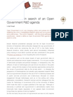 US and EU in Search of an Open Government R&D Agenda