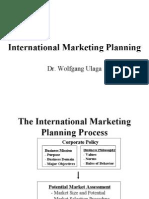 International Marketing Planning | Marketing | Market