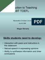 TOEFL Seminar 2008