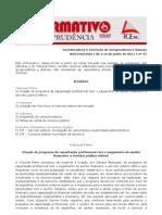 Informativo TCE - jurisprudência auxílio finaceiro curso