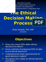 Week 4 Ethical Decision Making Process