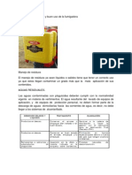 Practica de calibración y buen uso de la fumigadora