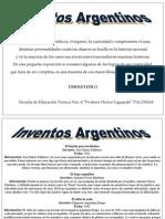 INVENTOS ARGENTINOS