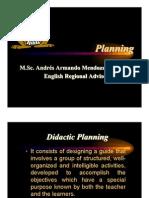 Planeamiento de Inglés  - English lessons Planning Costa Rica