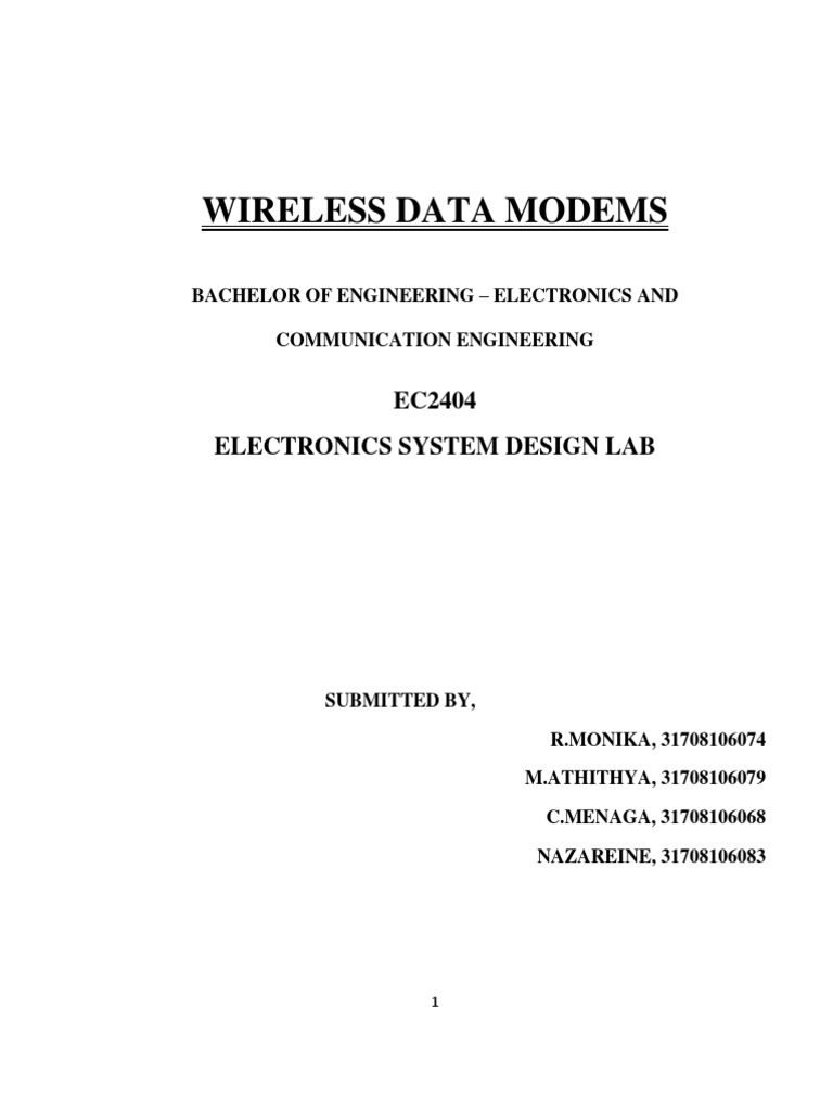 Wireless Data Modems Electronic Filter Modulation Ne565 Metal Detector Circuit Diagram