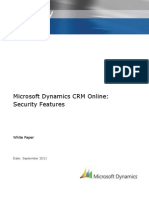 Microsoft Dynamics CRM Online - Security Features