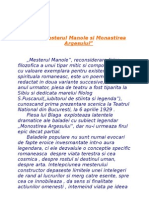 #Mesterul Manole Si Monastirea Argesului