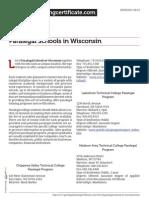 Paralegal Schools in Wisconsin