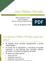 Asociaciones Público Privadas - IF
