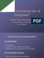 Cómo vincularse con el Congreso -IF