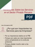 Reflexiones Sobre Los Servicios en El Sector Privado Peruano - GP