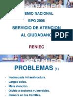 Servicio de Atencion, Premio - Gp