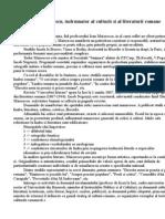 Titu Maiorescu or Al Culturii Si Al Literaturii Rom