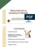 FISIOLOGÍA GLÁNDULA TIROIDES 2011