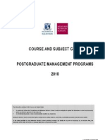 MBS Course and Subject Guide 2010 March 2010