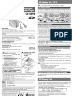 Panasonic SVSD90 User Manual