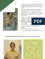 data show - Rosana Ricalde trajetória artística - por Célia Ribeiro